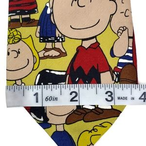 Peanuts Accessories - Peanuts Neck Tie Charlie Brown Snoopy Yellow